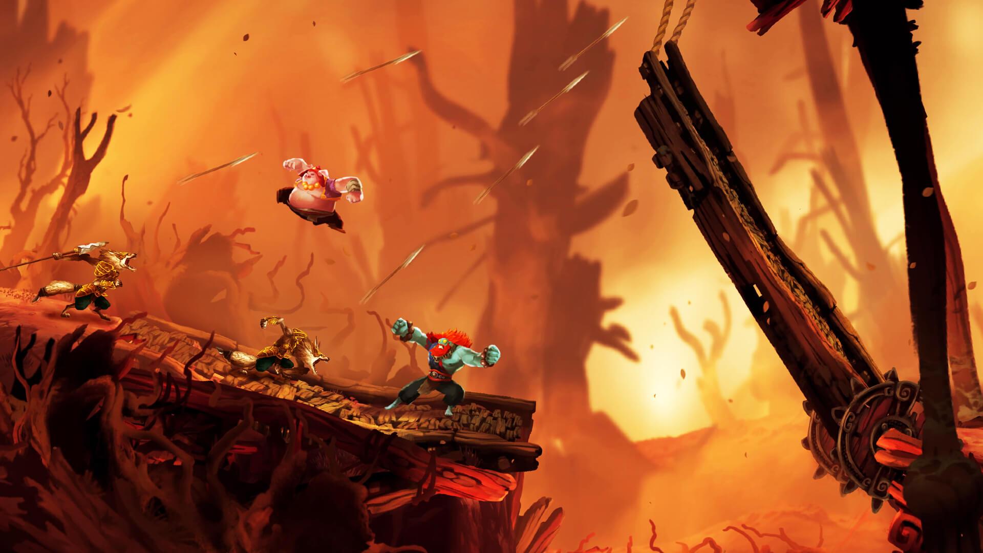 Скриншот из игры Unruly Heroes