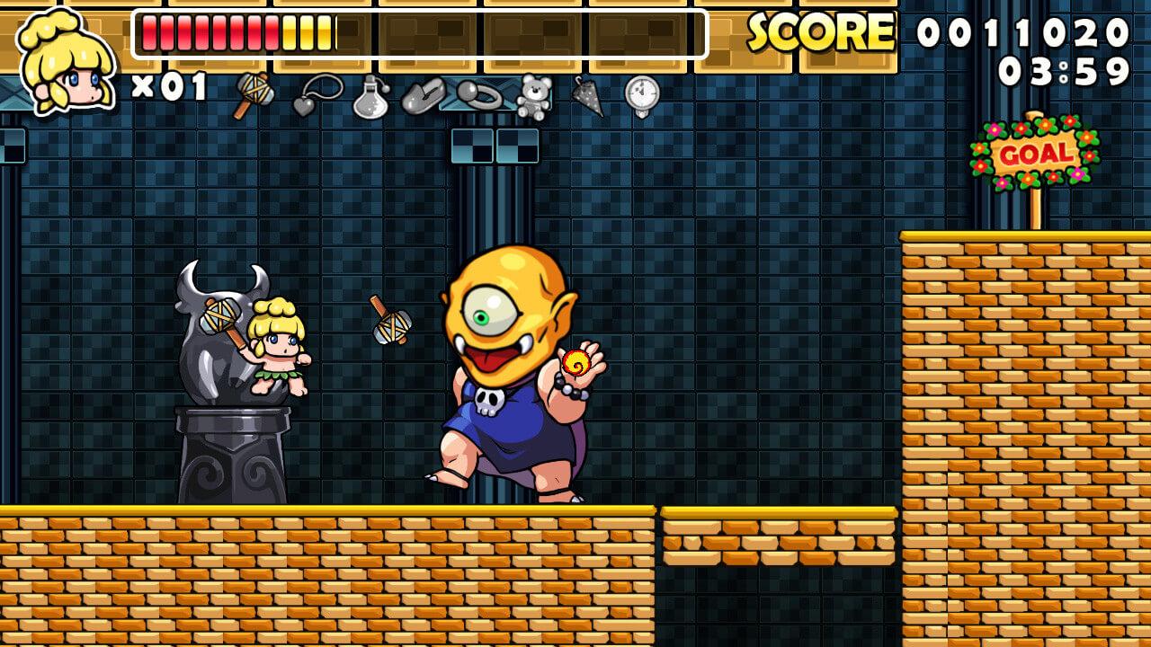 Скриншот из игры Wonder Boy Returns Remix