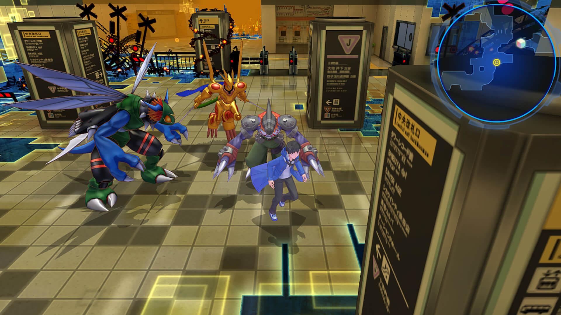 Скриншот из игры Digimon Story Cyber Sleuth