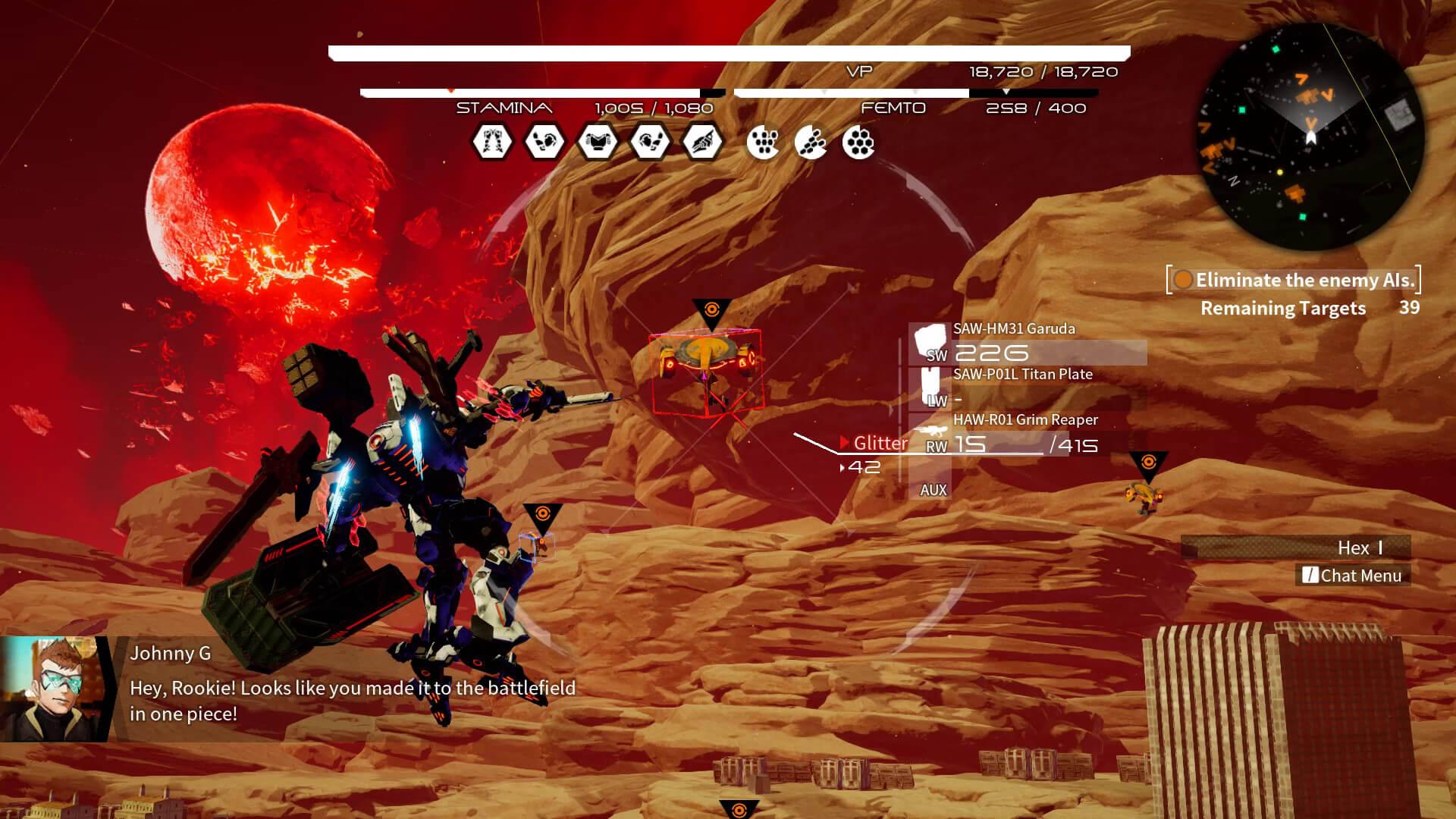 Скриншот из игры DAEMON X MACHINA