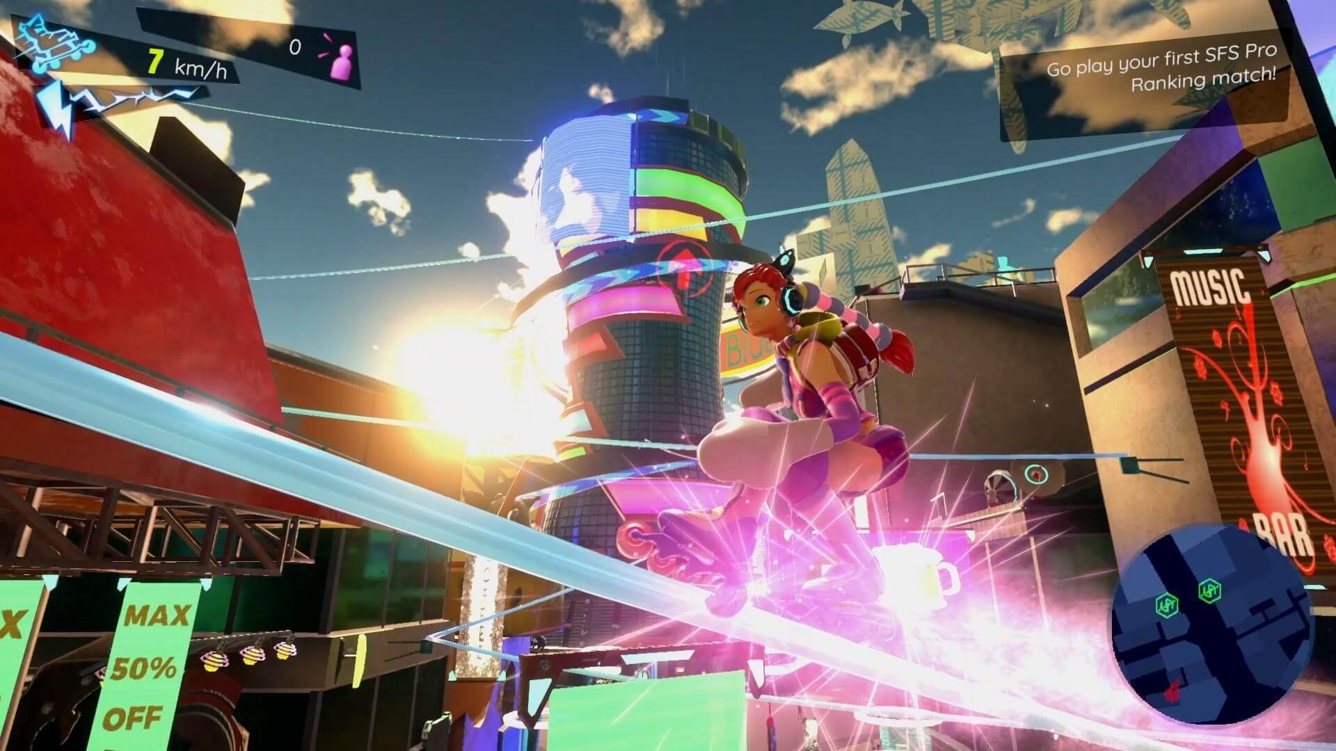 Скриншот из игры Neon Tail
